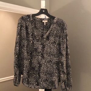 Black and white Joie silk top